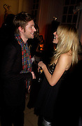 Burberry Designer Christopher Bailey and Sienna Miller. Mario Testino, Bianca Jagger and Kenneth Cole celebrate Women to Women: Positively Speaking. - A publication to raise awareness of women living with Aids. The Orangery, Kensington Palace. 2 December 2004. ONE TIME USE ONLY - DO NOT ARCHIVE  © Copyright Photograph by Dafydd Jones 66 Stockwell Park Rd. London SW9 0DA Tel 020 7733 0108 www.dafjones.com