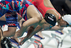 October 4, 2018 - Budapest, Hungary - Smith Leah of USA competes in the Womens 400m Freestyle on day one of the FINA Swimming World Cup held at Duna Arena Swimming Stadium on Okt 04, 2018 in Budapest, Hungary. (Credit Image: © Robert Szaniszlo/NurPhoto/ZUMA Press)