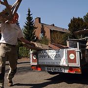 Jaap Visser bouwbedrijf laat zijn aanhanger