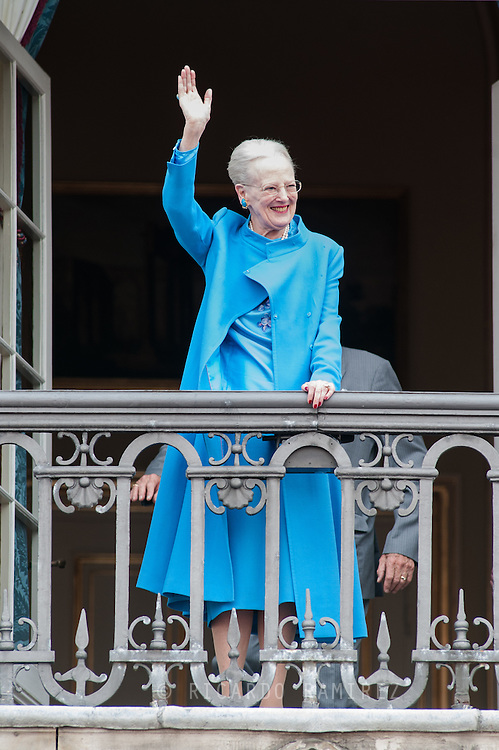 16.04.2016. Copenhagen, Denmark.<br /> Queen Margrethe II celebrates her 76th birthday with her whole family. The royal family appears on the balcony of Christian IX's Palace at Amalienborg Palace.<br /> Photo: © Ricardo Ramirez