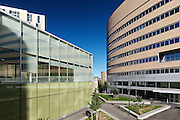 architecture photography: Campus de l'UQAM - Complexe des sciences Pierre-Dansereau and President Kennedy building, downtown Montreal, Quebec, Canada