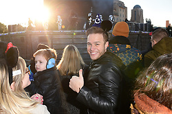 Olly Murs in Disneyland Park in front of Sleeping Beauty Castle during the launch of Star Wars: Season Of The Force at Disneyland, Paris on January 22, 2017. Photo by Jon Furniss/Disney/ABACAPRESS.COM