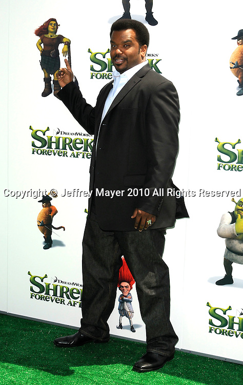 """UNIVERSAL CITY, CA. - May 16: Craig Robinson arrives at the """"Shrek Forever After"""" Los Angeles Premiere at Gibson Amphitheatre on May 16, 2010 in Universal City, California."""