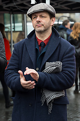 © Licensed to London News Pictures. 04/03/2018. London, UK. MICHAEL SHEEN takes part in the #March4Women rally calling for gender equality. Photo credit: Ray Tang/LNP