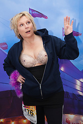 """© Licensed to London News Pictures. 12/05/2012. London, England. Actress Jennifer Saunders, leader of Jen's Big Tits Team. The MoonWalk London 2012, Celebrating 15 years of Moon Walking for the breast cancer charity """"Walk the Walk"""". Photo credit: Bettina Strenske/LNP"""