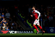 Olivier Giroud of Arsenal in action. Premier league match, Chelsea v Arsenal at Stamford Bridge in London on Sunday 17th September 2017.<br /> pic by Kieran Clarke, Andrew Orchard sports photography.