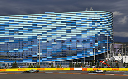 September 30, 2018 - Sochi, Russia - Motorsports: FIA Formula One World Championship 2018, Grand Prix of Russia,  #77 Valtteri Bottas (FIN, Mercedes AMG Petronas), #44 Lewis Hamilton (GBR, Mercedes AMG Petronas F1 Team) (Credit Image: © Hoch Zwei via ZUMA Wire)