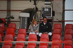 Onassis de Miranda Athina (GRE) and her husband Alvaro de Miranda Neto<br /> CSI Antwerpen 2009<br /> Photo © Hippo Foto