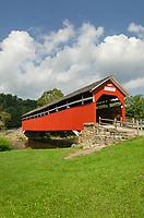 Kings Bridge, spanning Laurel Hill Creek. Laurel Highlands, Somerset County  Pennsylvania