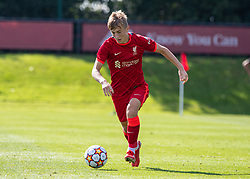 LIVERPOOL, ENGLAND - Wednesday, September 15, 2021: Liverpool's Max Woltman during the UEFA Youth League Group B Matchday 1 game between Liverpool FC Under19's and AC Milan Under 19's at the Liverpool Academy. Liverpool won 1-0. (Pic by David Rawcliffe/Propaganda)