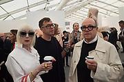 DR. PAUL ETTLINGER; BELINDA SCRIVEN, opening of Frieze. Regent's Park. London. 4 October 2017