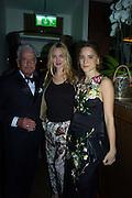 NICKY HASLAM; MARIA VON THURN UND TAXIS; BEATA HEUMAN,  Nicky Haslam hosts dinner at  Gigi's for Leslie Caron. 22 Woodstock St. London. W1C 2AR. 25 March 2015
