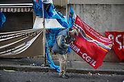 Manifestazione dei sindacati davanti al ministero dello Sviluppo, Roma 12 Gennaio 2015. Christian Mantuano / OneShot
