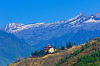 Paro Dzong monastery fortress, Paro Valley, Bhutan
