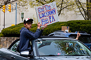 Protesters gathered at the Pennsylvania Capitol in Harrisburg, Pennsylvania on April 20, 2020 to demand that Governor Tom Wolf reopen the state's economy.