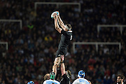 27.09.2014. Brodie Retallick wins the ball. Test Match Argentina vs All Blacks during the Rugby Championship at Estadio Único de la Plata, La Plata, Argentina.