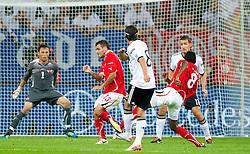 02.09.2011, Veltins Arena, Gelsenkrichen, GER, UEFA EURO 2012 Qualifikation, Deutschland (GER) vs Oesterreich (AUT), im Bild Mesut Özil / Oezil (GER, Real Madrid) legt vor zum 1:0 durch Miroslav Klose (GER, Lazio Rom) // during the UEFA Euro 2012 qualifying round Germany vs Austria  at Veltins Arena, Gelsenkirchen 2011-09-02 EXPA Pictures © 2011, PhotoCredit: EXPA/ nph/  Kurth       ****** out of GER / CRO  / BEL ******