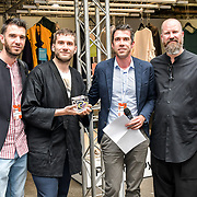 Marco Meconi is a winner of Accessories Costume & Mode (Roma) at the Graduate Fashion Week 2019 - Final Day, on 5 June 2019, Old Truman Brewery, London, UK.