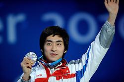 14-02-2010 ALGEMEEN: OLYMPISCHE SPELEN: CEREMONIE: VANCOUVER<br /> Huldiging van de 5000 meter, zilver voor LEE Seung-Hoon KOR <br /> ©2010-WWW.FOTOHOOGENDOORN.NL