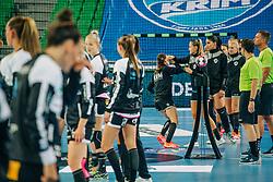 Players of Krim seen before handball match between RK Krim Mercator (SLO) and Vipers Kristiansand (NOR), on September 12, 2020 in Arena Stožice, Ljubljana, Slovenia. Photo by Sinisa Kanizaj / Sportida