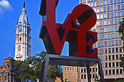 """LOVE"" sculpture, Philadelphia, PA, City Hall"