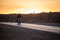 8 January 2018, Kalatemguna, Morocco: Sunset outside the town of Kalatemguna.