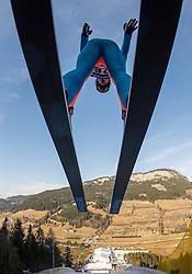 11.01.2014, Kulm, Bad Mitterndorf, AUT, FIS Ski Flug Weltcup, Probedurchgang, im Bild Wolfgang Loitzl (AUT) // Wolfgang Loitzl (AUT) during the Trial jump of FIS Ski Flying World Cup at the Kulm, Bad Mitterndorf, <br /> Austria on 2014/01/11, EXPA Pictures © 2014, PhotoCredit: EXPA/ JFK