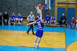 Bratoz Domen of KK Tajfun Sentjur during basketball match between KK Sencur  GGD and KK Tajfun Sentjur for Spar cup 2016, on 16th of February , 2016 in Sencur, Sencur Sports hall, Slovenia. Photo by Grega Valancic / Sportida.com