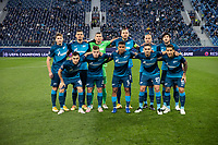 SAINT-PETERSBURG, RUSSIA - OCTOBER 20: Zenit St Petersburg pose for a team photo during the UEFA Champions League Group F match between Zenit St Petersburg and Club Brugge KV at Gazprom Arena on October 20, 2020 in Saint-Petersburg, Russia (Photo by MB Media]