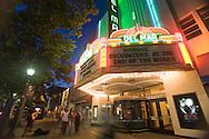 Cinema marquee in downtown Santa Cruz, California