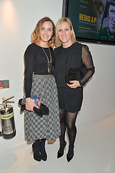 Left to right, VICTORIA PENDLETON and ZARA TINDALL at the London premier of Being AP held at Altitude 360, Millbank Tower, 30 Millbank, London on 23rd November 2015.