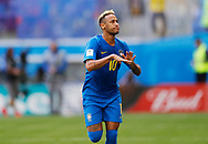 Neymar of Brazil celebrates after his goal during the 2018 FIFA World Cup Russia, Group E football match between Brazil and Costa Rica on June 22, 2018 at Saint Petersburg Stadium in Saint Petersburg, Russia - Photo Tarso Sarraf / FramePhoto / ProSportsImages / DPPI