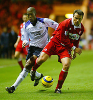 Fotball<br /> Premier League England 2004/2005<br /> Foto: BPI/Digitalsport<br /> NORWAY ONLY<br /> <br /> Middlesbrough v Manchester City<br /> Barcalys Premiership. 06/12/2004.<br /> <br /> Mark Viduka of Middlesbrough finds himself defending during the last few minutes.