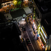 Looking down on the streets of Shinjuku.