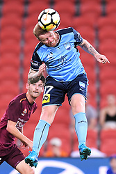 January 8, 2018 - Brisbane, QUEENSLAND, AUSTRALIA - David Carney of Sydney (17) heads the ball during the round fifteen Hyundai A-League match between the Brisbane Roar and Sydney FC at Suncorp Stadium on Monday, January 8, 2018 in Brisbane, Australia. (Credit Image: © Albert Perez via ZUMA Wire)