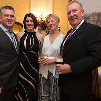 Derek Daly and Diane Fitzgerald from New Quay, Co Clare with Telerie Thomas and Mark Murphy from Co Meath at the Clare Limousin Breeders 18th Annual Dinner Dance at the Bellbridge House Hotel, Spanish Point