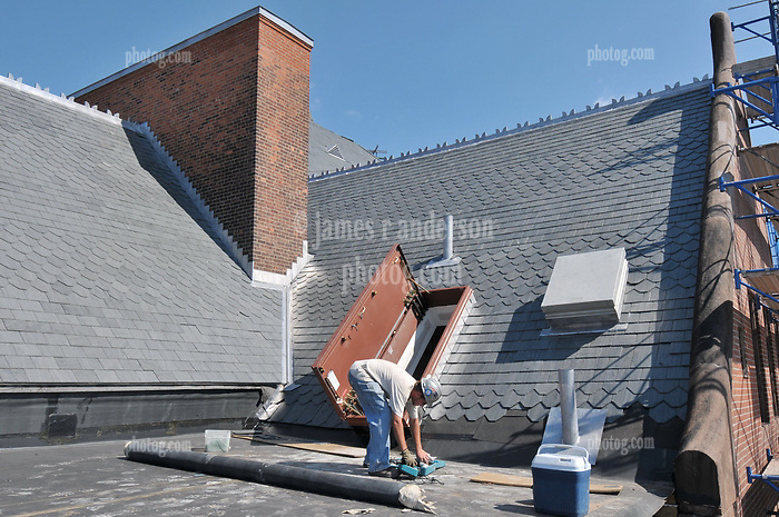 Bridgeport Courthouse GA 2 Renovations. Replace Roof and Masonry Repairs CT Dept of Public Works Project # BI-JD-305. Third Progress Photography Shoot: 17 August 2011