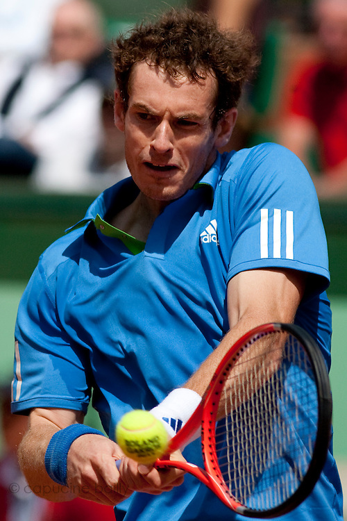 Roland Garros 2011. Paris, France. May 24th 2011..English player Andy MURRAY against Eric PRODON
