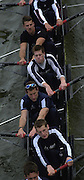 © Peter Spurrier Sports Photo<br />email - pictures@rowingpics.com<br />tel +44 (0) 7973 819 551<br />2002 Varsity Boat Race<br />26/3/2002<br />Oxford Bottom to top Robin Bourne-Taylor, Ben Burch, Lucas McGee and Dan Perkins 20020327 University Boat Race, [Varsity],  Tideway Week. Putney. London