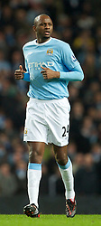 MANCHESTER, ENGLAND - Sunday, February 13, 2010: Manchester City's Patrick Vieira in action against Stoke City during the FA Cup 5th Round match at the City of Manchester Stadium. (Photo by David Rawcliffe/Propaganda)  MANCHESTER, ENGLAND - Sunday, February 13, 2010: Manchester City xxxx and Stoke City's xxxx during the FA Cup 5th Round match at the City of Manchester Stadium. (Photo by David Rawcliffe/Propaganda)