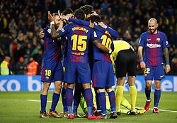 December 17, 2017 - Barcelona, Catalonia, Spain - Paulinho Bezerra goal celebration during the La Liga match between FC Barcelona v Real Club Deportivo de La Coruna, in Barcelona, on December 17, 2017. (Credit Image: © Joan Valls/NurPhoto via ZUMA Press)