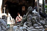 Asia, Nepal, Kathmandu, religious idol sculpture
