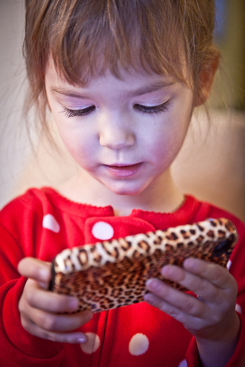 Adalyn Hatch with leopard iPhone, Anchorage