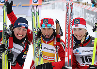 Justyna Kowalczyk (POL), Marit Bjoergen (NOR) und Kristin Stoermer Steira (NOR) (Pascal Muller/EQ Images)