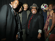 l to r: Micah Gavanaugh, Daniel Chavis, Ricky Gordon, Stew, Danny Chavis and Imani Uzuri at The ImageNation celebration for the 20th Anniversary of ' Do the Right Thing' held Lincoln Center Walter Reade Theater on February 26, 2009 in New York City. ..Founded in 1997 by Moikgantsi Kgama, who shares executive duties with her husband, Event Producer Gregory Gates, ImageNation distinguishes itself by screening works that highlight and empower people from the African Diaspora.