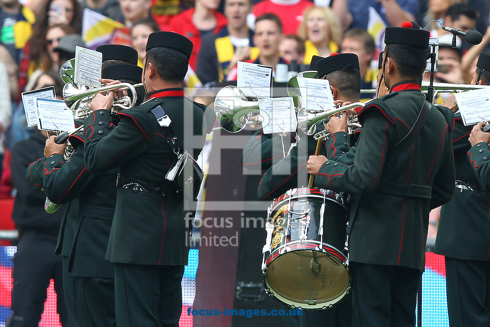 The band play the National Anthem before the FA Cup Final at Wembley Stadium, London<br /> Picture by Paul Chesterton/Focus Images Ltd +44 7904 640267<br /> 30/05/2015