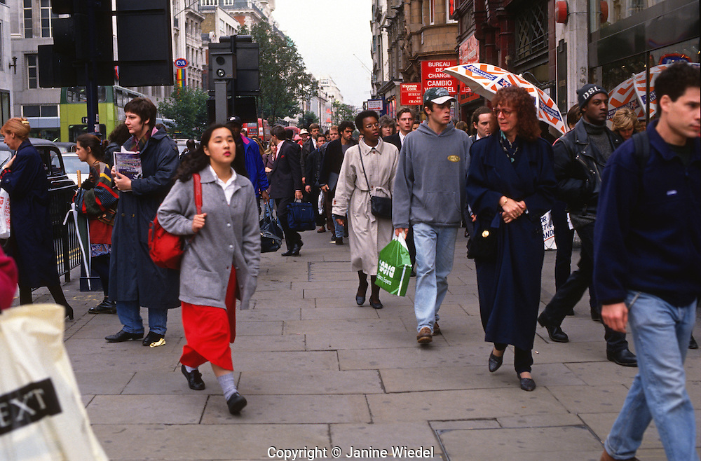 Oxford Street busy with shoppers  central London.