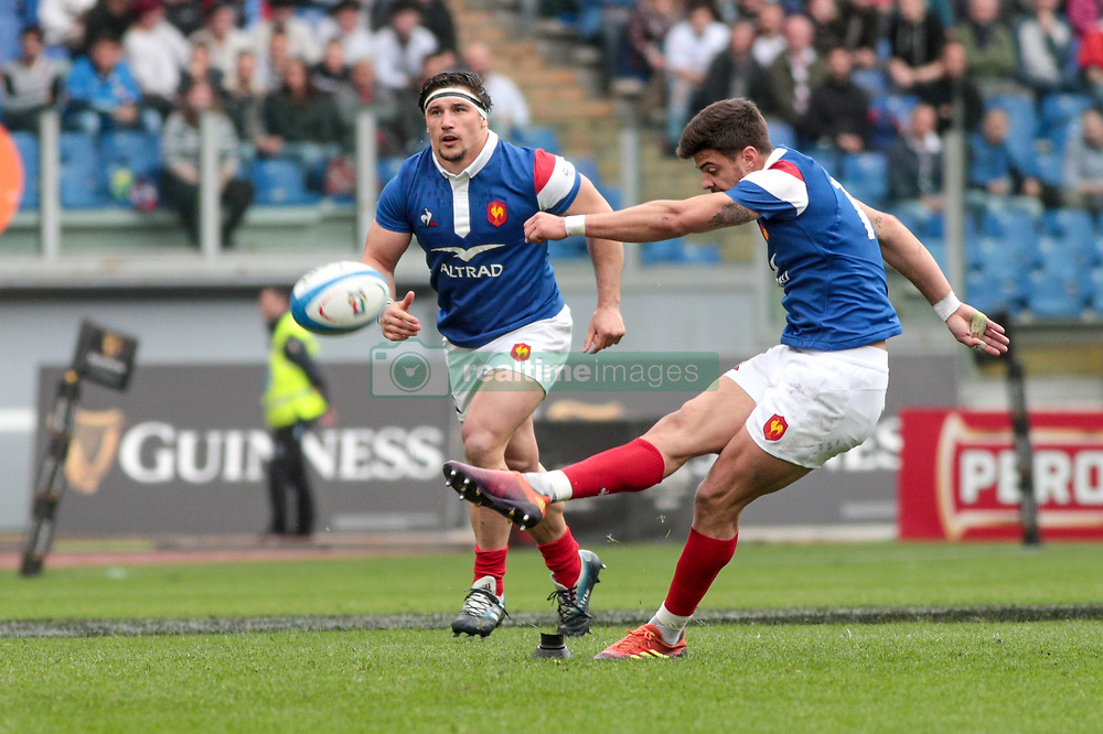 March 16, 2019 - Rome, Rome, Italy - Romain Ntamack during the Guinness Six Nations match between Italy and France at Stadio Olimpico on March 16, 2019 in Rome, Italy. (Credit Image: © Emmanuele Ciancaglini/NurPhoto via ZUMA Press)