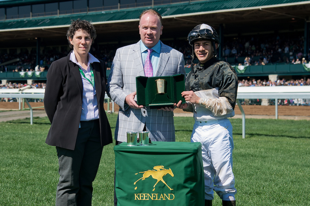 Keeneland Spring Meet 2015<br /> The 2015 Madison Stakes (G1) won by Princess Violet.<br /> Owner Barry Schwartz<br /> Trainer Linda Rice<br /> Jockey Junior Alvarado
