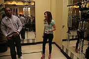 LEMAR AND LEAH WOOD, Launch of French 77 by Puma. Claridges. 19 April 2007.  -DO NOT ARCHIVE-© Copyright Photograph by Dafydd Jones. 248 Clapham Rd. London SW9 0PZ. Tel 0207 820 0771. www.dafjones.com.